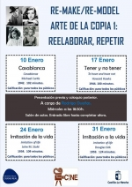 "Nuestro CineClub de ENERO 2018 ""RE-MAKE/RE-MODEL ARTE DE LA COPIA 1: REELABORAR REPETIR"""