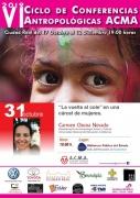 """31 de octubre: Charla """"La vuelta al cole en una cárcel de mujeres"""". Carmen Osuna. VI Ciclo de Conferencias Antropológicas ACMA"""