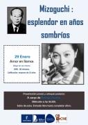 """29 de enero: Cineclub """"Amor en llamas"""" (Waga koi wa moenu) 96 min. Mizoguchi Kenji, 1949. Calificación: mayores de 13 años."""