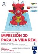 """Hasta el 23 de enero el plazo de inscripción: Taller infantil """"Impresión 3D para la vida real"""""""